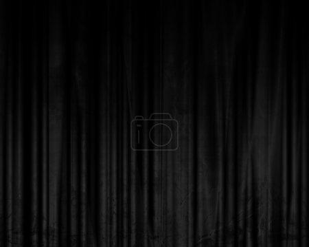 Photo pour Rideaux de cinéma ou de théâtre avec quelques plis dedans - image libre de droit