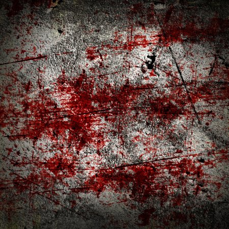 Photo for Grunge background with some red blood splatter on it - Royalty Free Image