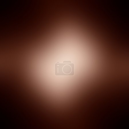 Photo for Abstract blurred brown background with a soft highlight in it - Royalty Free Image