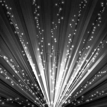 Foto de Fondo blanco y negro con algunos rayos brillantes en él - Imagen libre de derechos