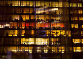Abstract building by night