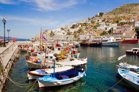 Hydra island in Greece, yachts