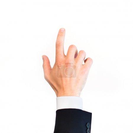 Photo pour Appuyez sur le bouton, concept d'entreprise, toucher - image libre de droit
