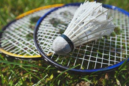 Photo pour Badminton bouchent - image libre de droit