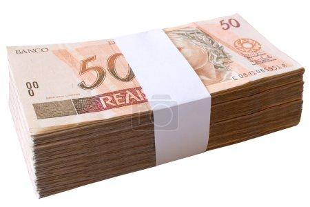 Bills 50 Reais Brazilian money