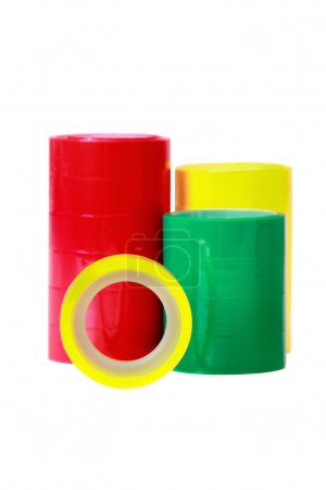 Three adhesive tape colors