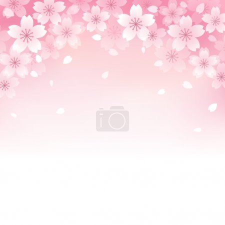 Illustration for Beautiful Pink Cherry blossom background. File contains Transparency, Gradients, Gradient Mesh. - Royalty Free Image