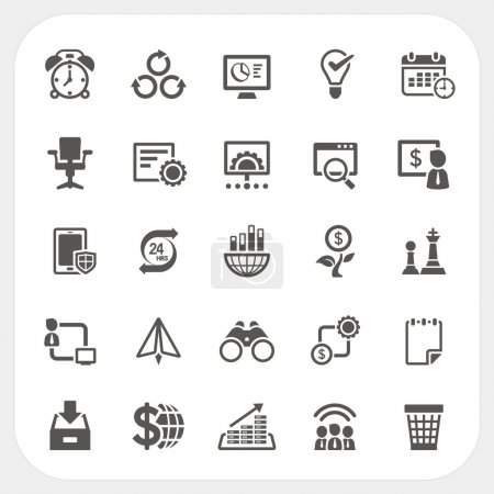 Illustration for Business and finance icons set, EPS10, Don't use transparency. - Royalty Free Image