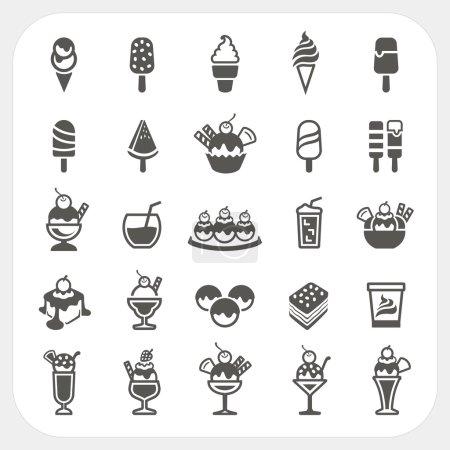 Illustration pour Ensemble d'icônes de crème glacée, EPS10, Ne pas utiliser la transparence . - image libre de droit