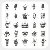 Ice cream icons set