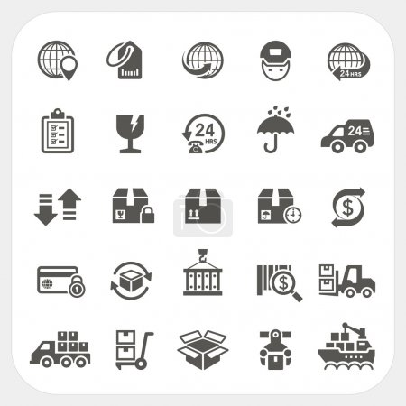 Ilustración de Logística y envío conjunto de iconos, eps10, no utilizan transparencia. - Imagen libre de derechos