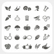 Vegetable icons set, EPS10, Don't use transparency...
