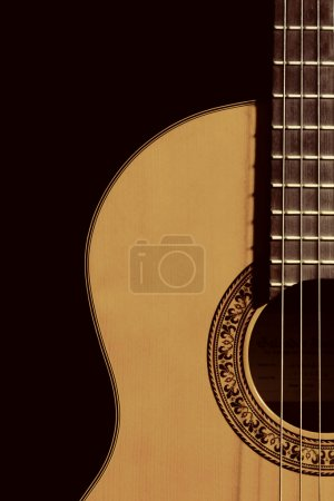 Photo for Isolated on the background color of guitar - Royalty Free Image