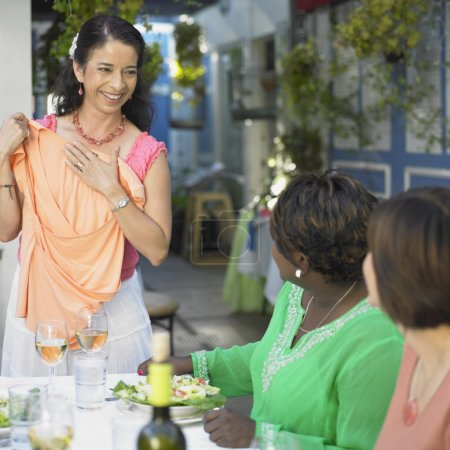 Woman standing in restaurant