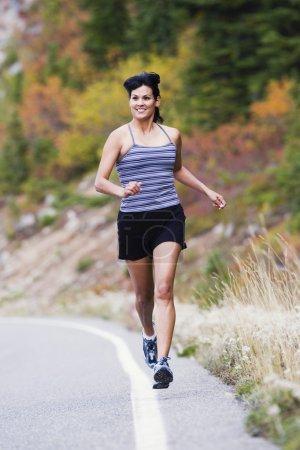 Female athlete jogging