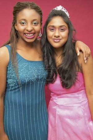 Portrait of two teenage girls