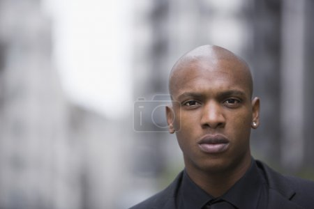 Young businessman's face