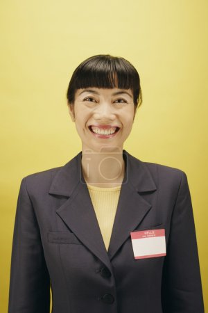 Portrait of businesswoman smiling