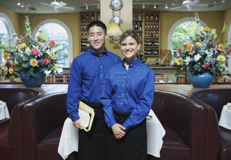 Portrait of wait staff in restaurant