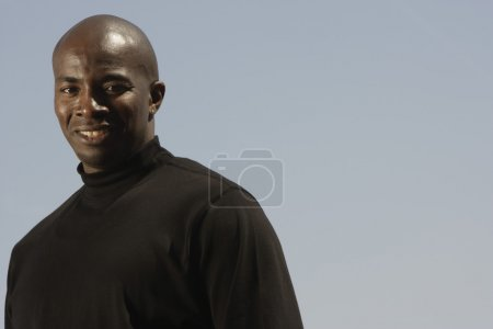 Close up of African man smiling