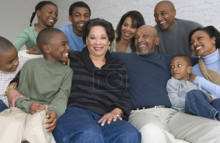 Portrait of multi-generational African family