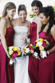 Multi-ethnic bride and bride's maids