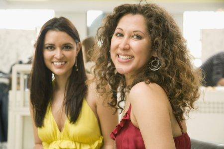 Multi-ethnic women smiling