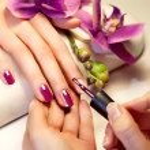 Manicure nail paint pink color...