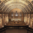 The main hall of Natural History Museum. This view...