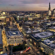 London at twilight panoramic view from St. Paul's ...