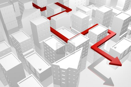 Photo pour Route de navigation dans la ville - image libre de droit