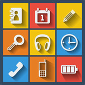 Set of 9 web and mobile icons Vector