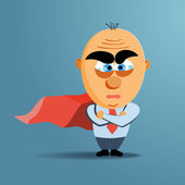 Brave superhero businessman with red cloak Vector Business challenge concept