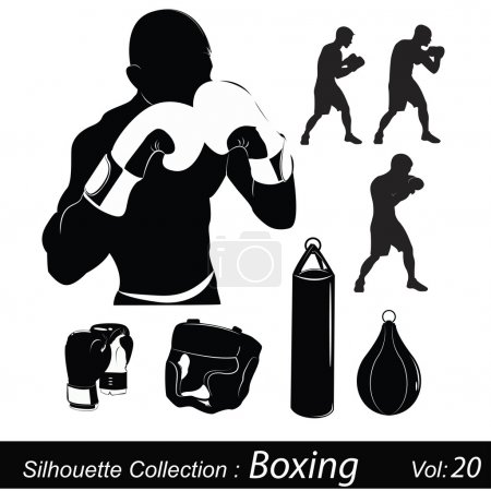 Vector Illustration: Box and boxing