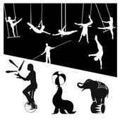 Vector silhouettesCircus show
