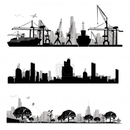 Photo for City skyline silhouette - Royalty Free Image