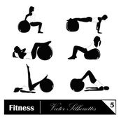 Vector illustration of fitness silhouettes