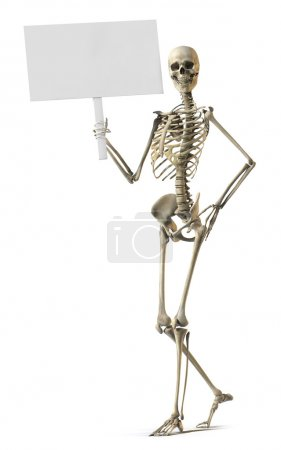 Skeleton honding sign