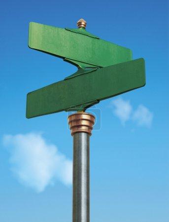 Photo pour Un panneau de rue vieille-fashoned pour une intersection - image libre de droit