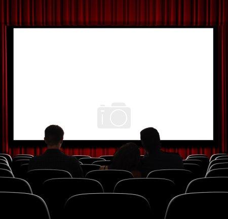 Photo pour Un affichage vide écran de cinéma de droite sur la photo. - image libre de droit