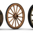 Illustration showing the evolution of the wheel st...