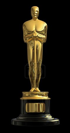 Photo for Satue trophy with a reminiscent of an Academy Award Oscar - Royalty Free Image