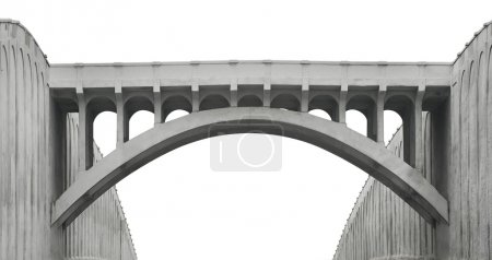 Photo for Concrete bridge isolated with a clipping path - Royalty Free Image