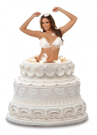 Girl Popping Out of a Cake