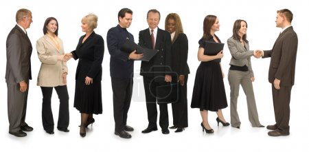 Photo for Group of corporate business networking on a white background - Royalty Free Image