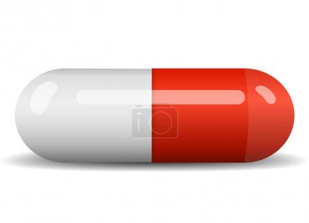 Red vector capsule on white