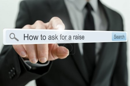 How to ask for a raise written in search bar
