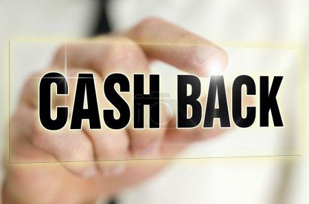 Photo pour Icône Remise en argent sur écran virtuel . - image libre de droit