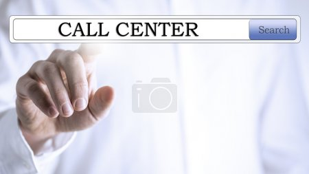 Call Centre in a navigation bar on virtual screen