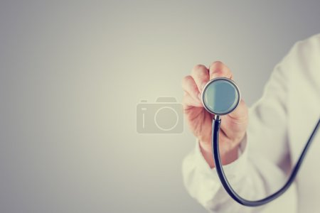Retro image of a doctor with a stethoscope